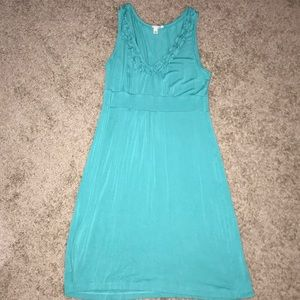 Turquoise Halogen dress with ruffle neck detail, L